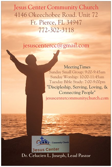 Jesus Center revised poster