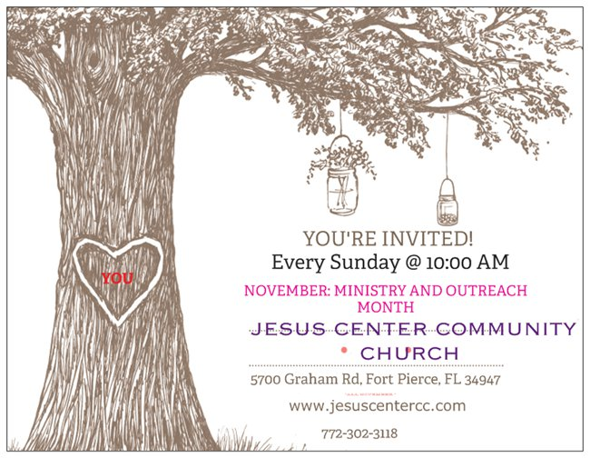 JESUS CENTER NOVEMBER CELEBRATION