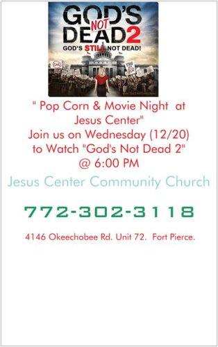 Movie Night at Jesus Center