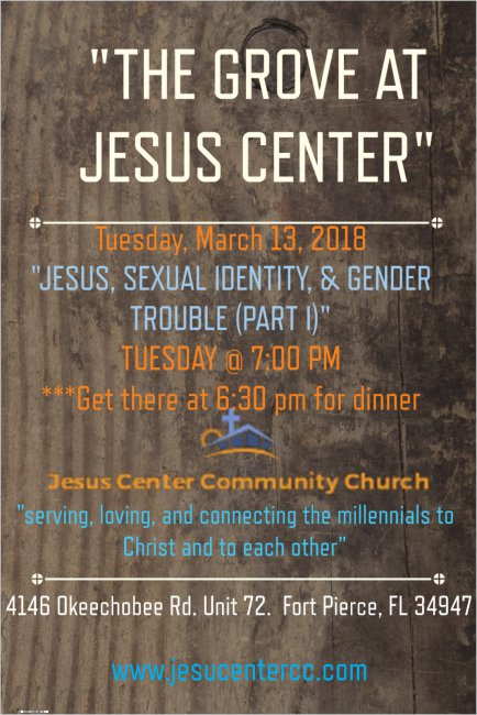 Jesus center March 13 Jesus and sexual identity