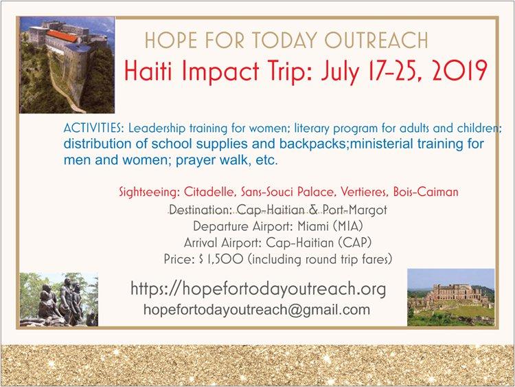Haiti Impact Trip Flyer
