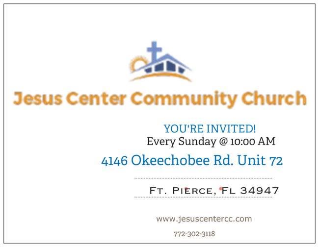 Jesus center address