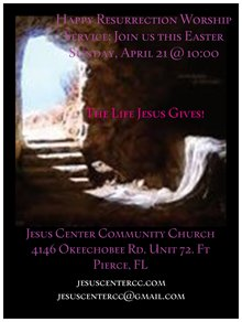 Join us This Easter Sunday at Jesus Center! – Jesus Center